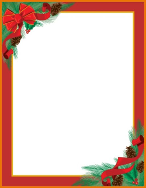Christmas Letter Templates.Pinecones Ribbons Christmas Letterhead ...