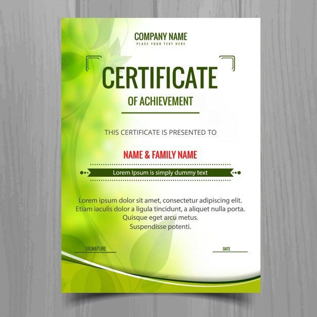 Green shiny certificate template Vector | Free Download