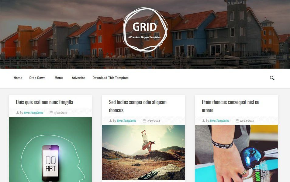 40+ Latest Free Grid Style Blogger Templates 2017 » CSS Author