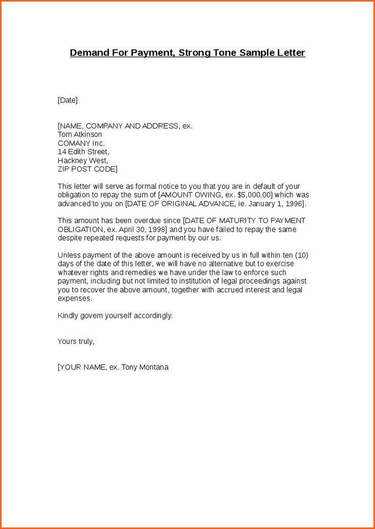 11+ demand letter template - Budget Template Letter