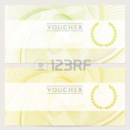 Gift Certificate, Voucher, Coupon Template With Colorful Rainbow ...