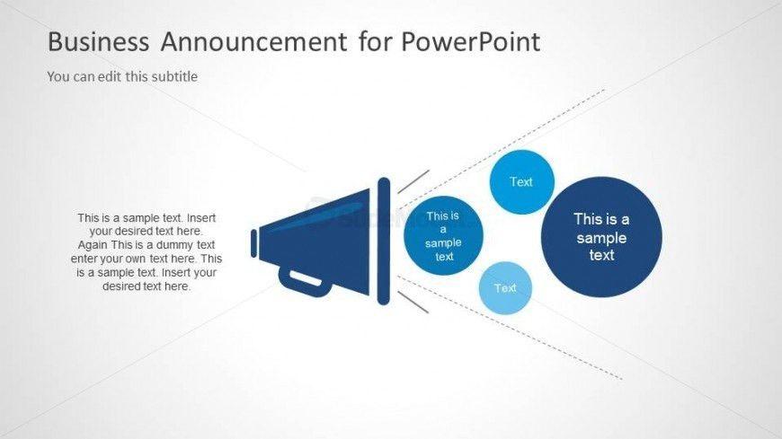 Business Announcement PPT Template - SlideModel