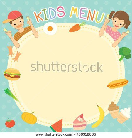 Boy Girl Eating Kids Menu Template Stock Vector 430318885 ...