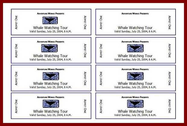 12+ ticket template for word | sendletters.info