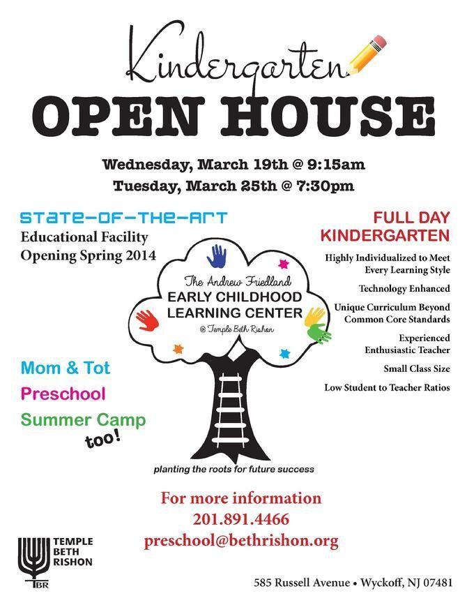 6 Best Images of Preschool Open House Flyer - Preschool Open House ...