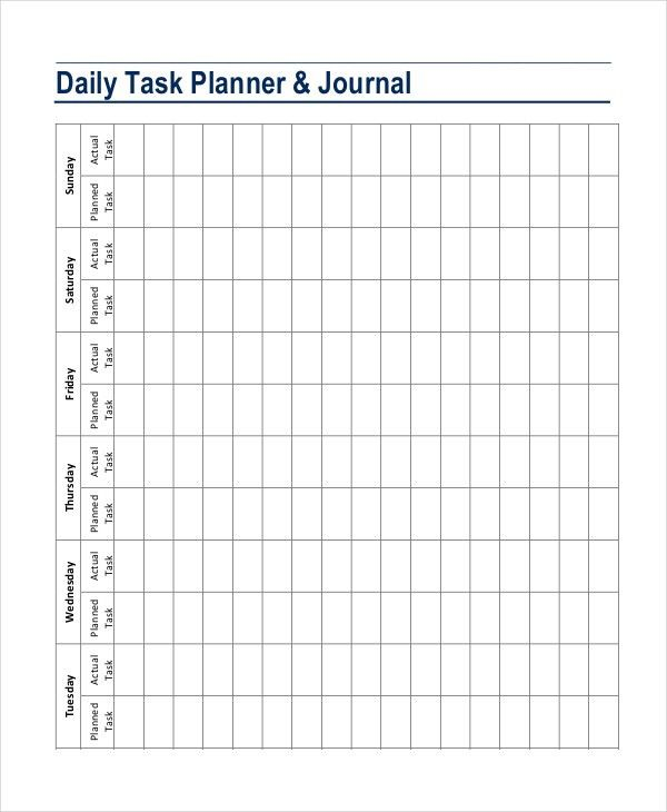 Daily Planner Template - 7+ Free PDF, PSD Documents Download ...