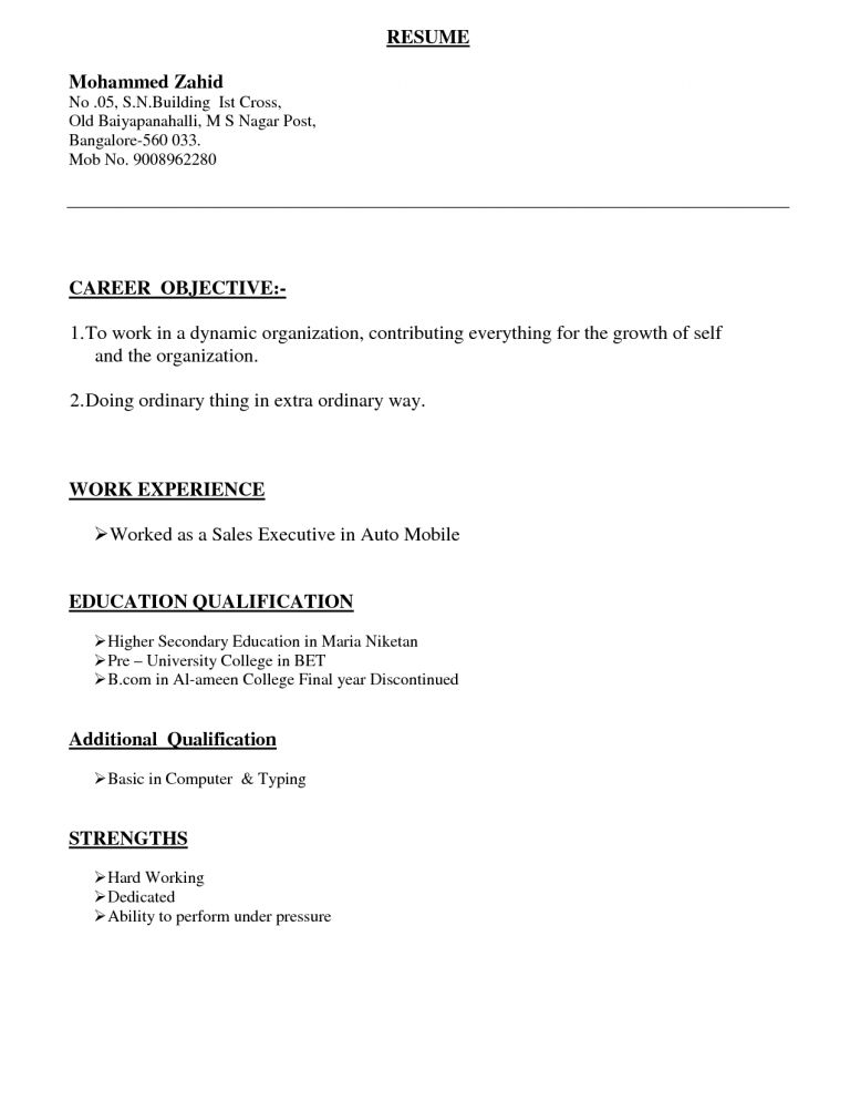 Cozy Inspiration Resume Types 10 Types Of Resume Samples Sample ...