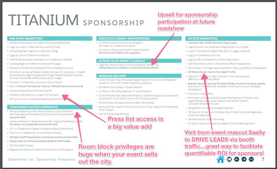 Event Sponsorship Inspiration: Dreamforce Event Sponsorship Prospectus