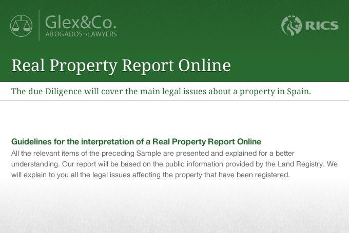 Real Property Report Example | Glex and Co.