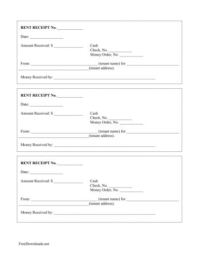 Download Monthly Rental Payment Receipt Template | PDF ...