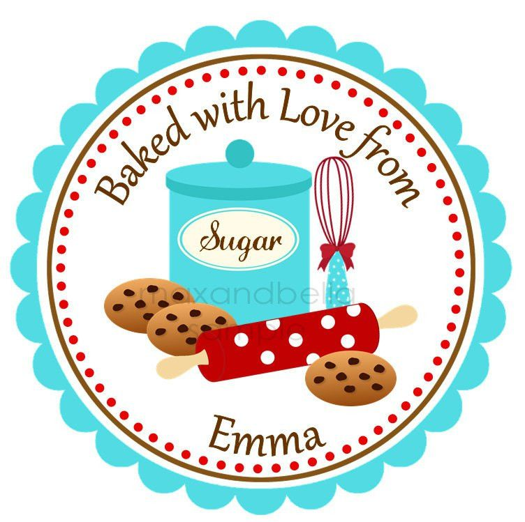 Baking Cookies Personalized Stickers Labels Address Labels