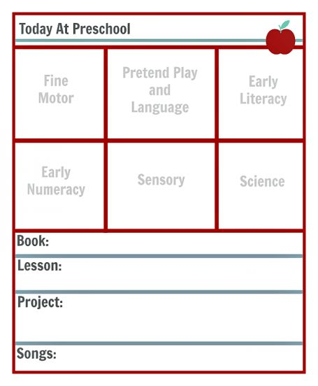 Preschool Lesson Planning Template - Free Printables - No Time For ...