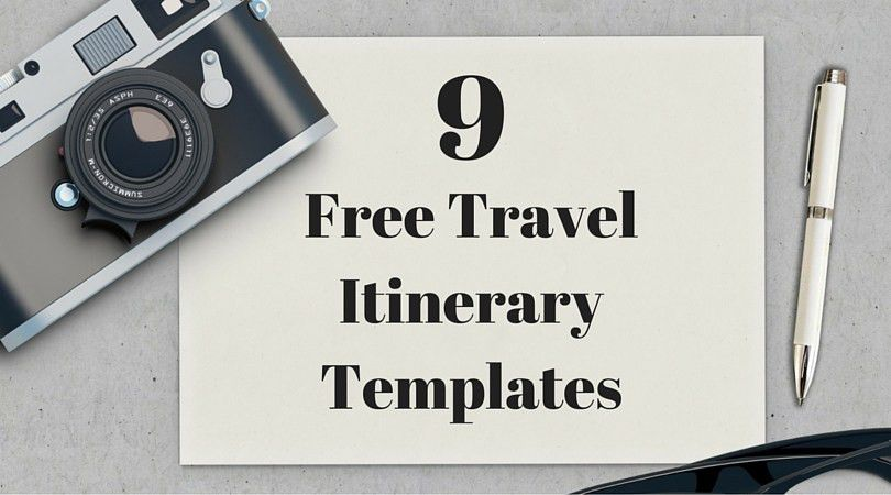 Vacation Itinerary Template. Get This Travel Itinerary Template ...