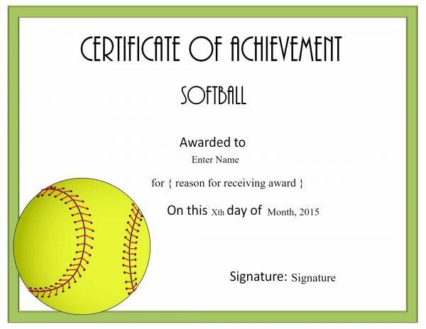 Free Softball Certificate Templates - Customize Online