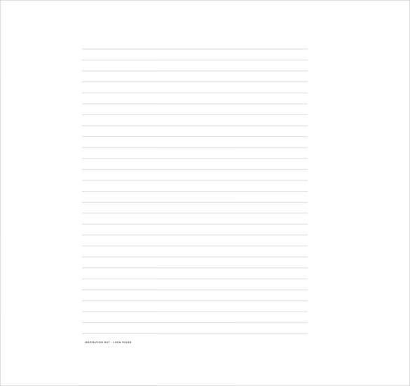 8+ Ruled Lined Paper Templates – Free Sample, Example, Format ...