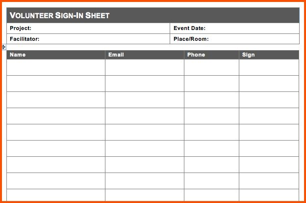 11+ sign in sheet template word | Survey Template Words