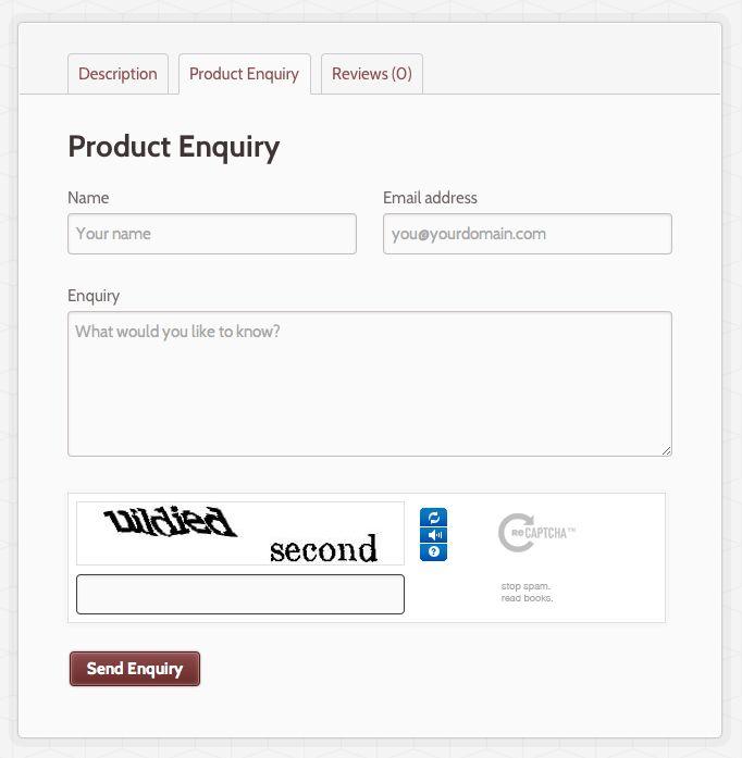 Product Enquiry Form - WooCommerce