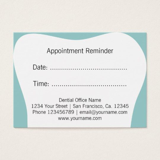Appointment Reminder Business Cards & Templates | Zazzle