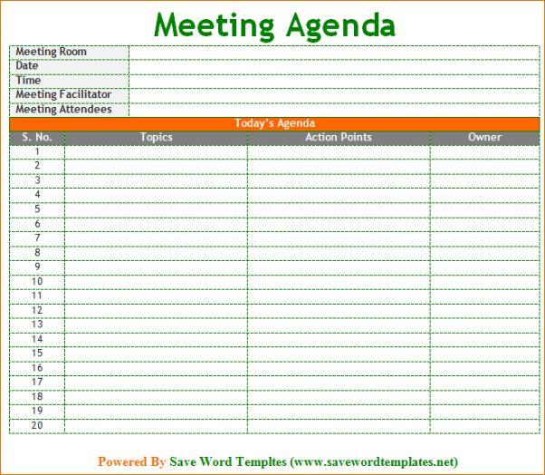 4 Meeting Schedule TemplateAgenda Template Sample | Agenda ...