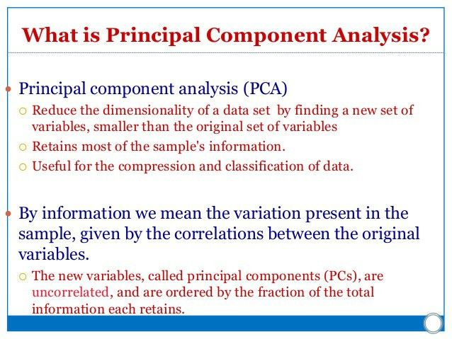 Neural Networks: Principal Component Analysis (PCA)