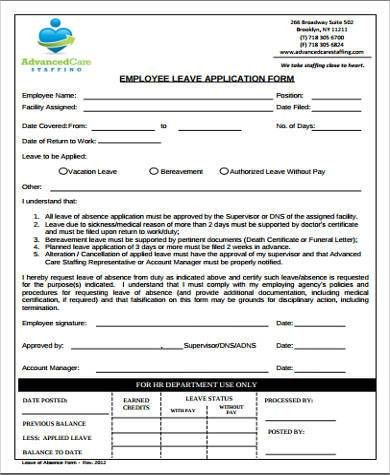 6+ Sample Employee Application Forms- Free Sample, Example, Format ...