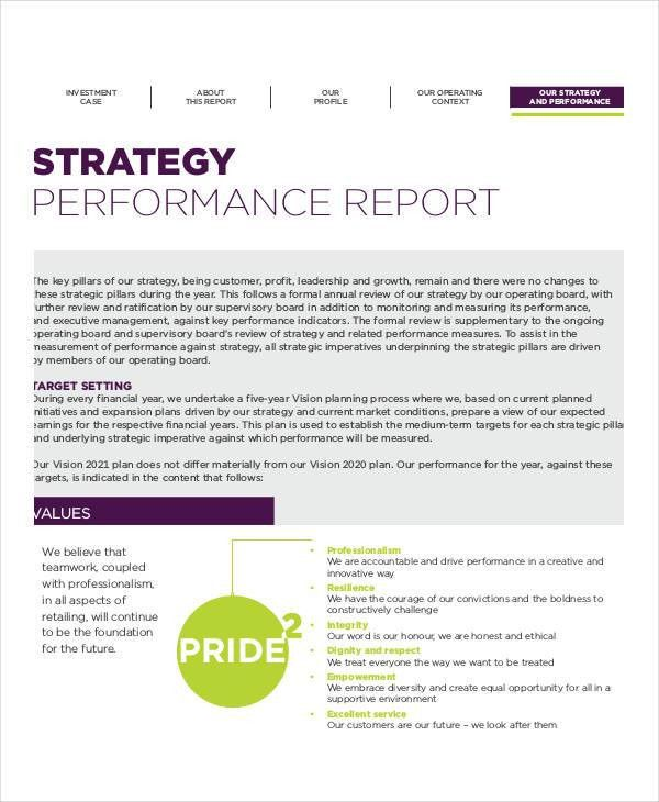 Strategy Report Templates - 9+ Free PDF Documents Download | Free ...