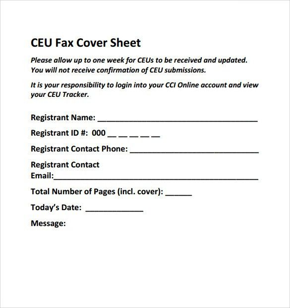 Sample Fax Cover Sheet - 8+ Documents In PDF, Word