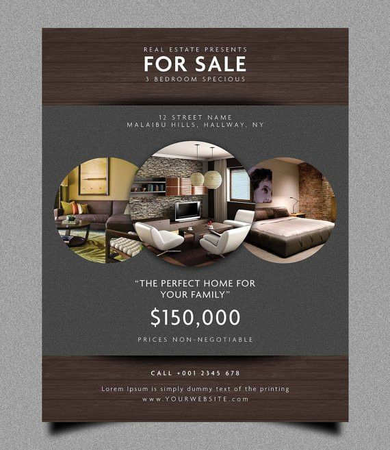 Real estate flyer template by Graphiki on Etsy … | Pinteres…