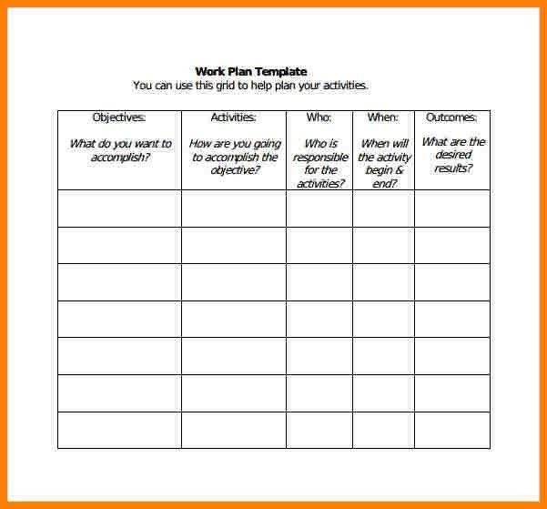 4+ work plan template | cna resumed