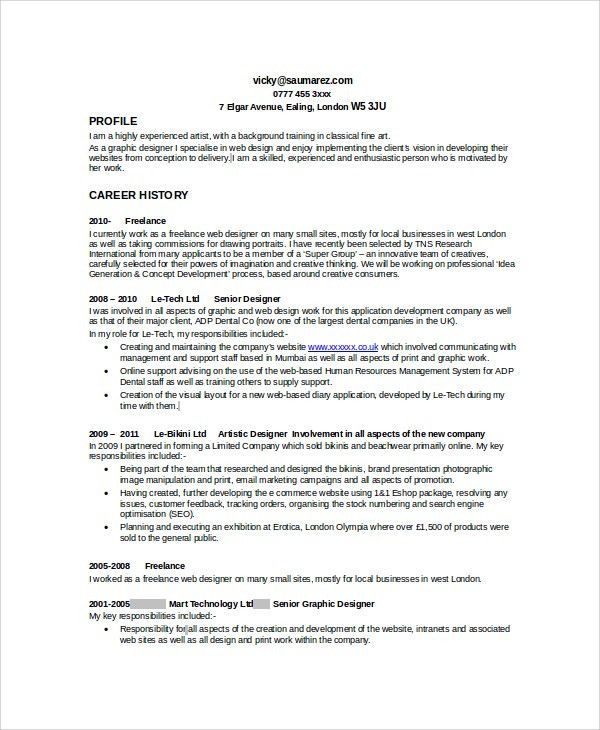 Sample Graphic Designer Resume - 9+ Examples in Word, PDF