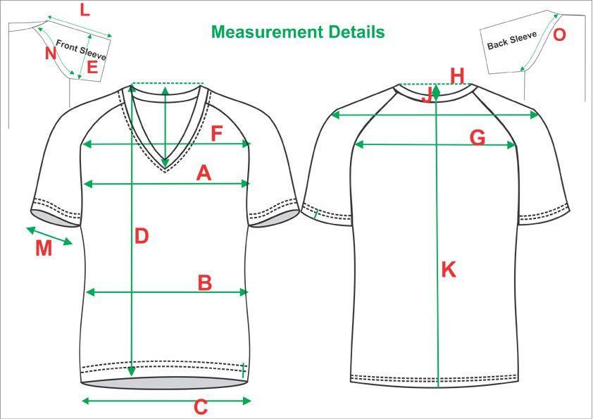 Tech Pack Template Mans V-Neck Half Sleeve Raglan T-Shirt Standard ...