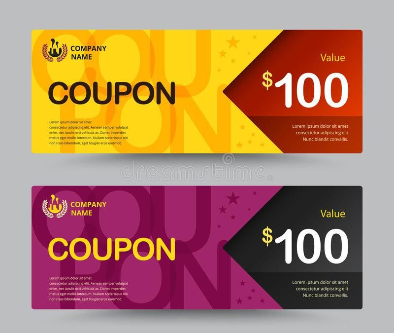 Gift Voucher Card Template Design. For Special Time, Coupon Temp ...