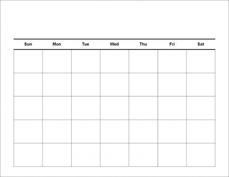 Blank Calendar Template 2017 | calendar 2017 printable