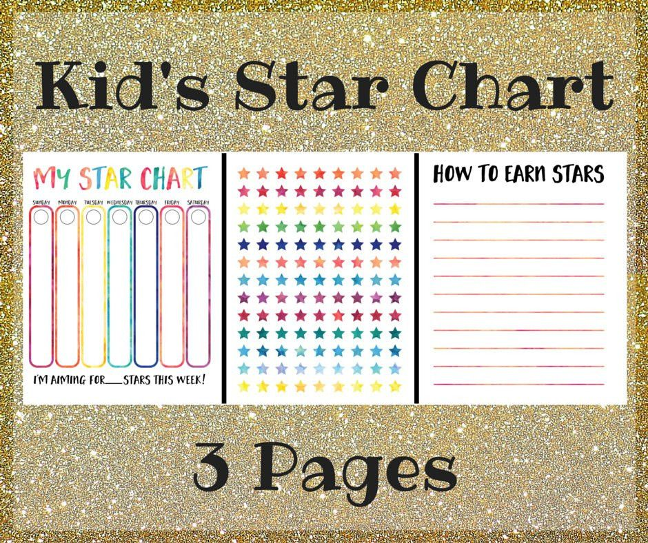 Kid's Star Chart Printable Kid's Star Chart