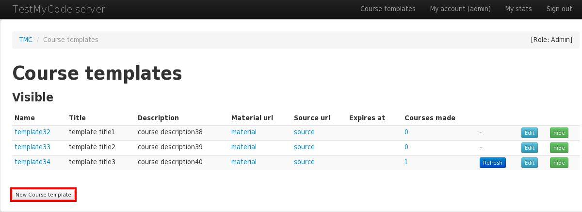 TMC webapp user manual - admin