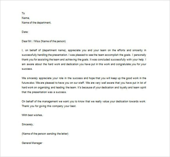 Thank You Letter to Employee – 10+ Free Word, Excel, PDF Format ...