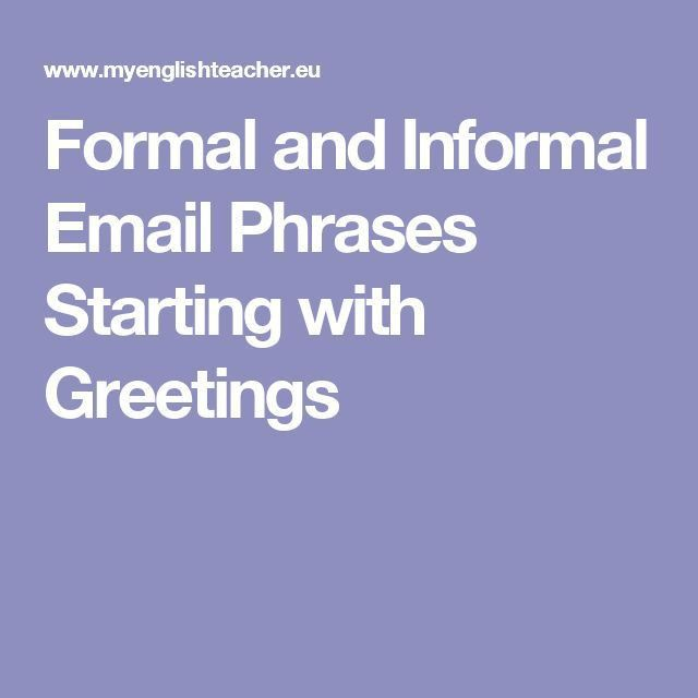 Best 25+ Formal email greetings ideas on Pinterest | Sympathy ...