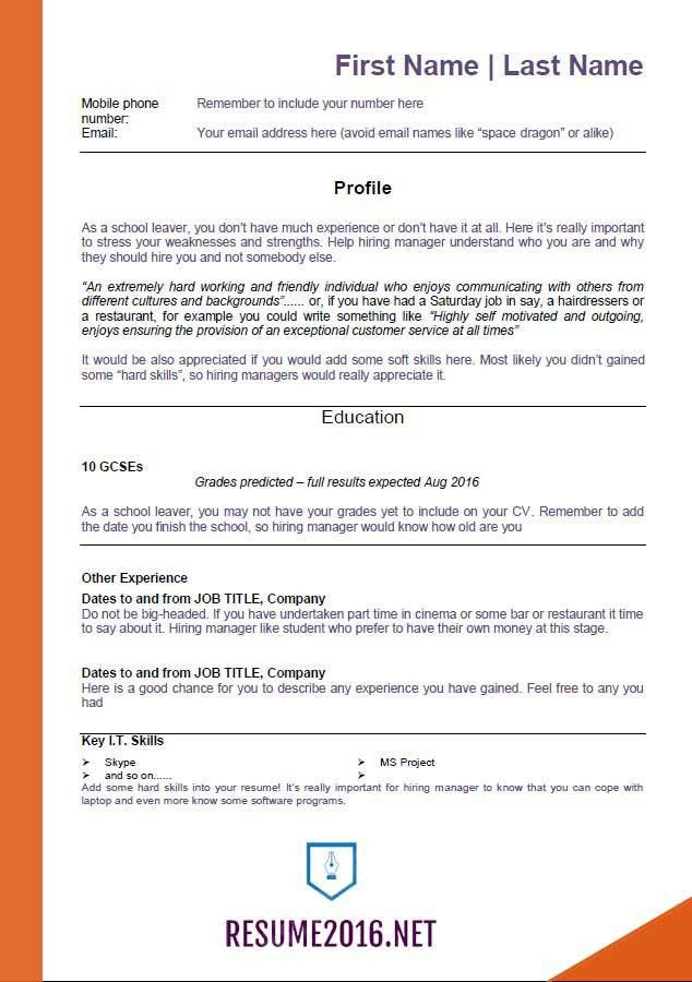 2016 resume templates - For those who still unemployed!