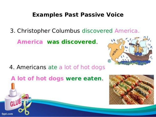 Present and Past Passive Voice for kids