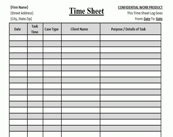 Time Sheet Template | eknom-jo