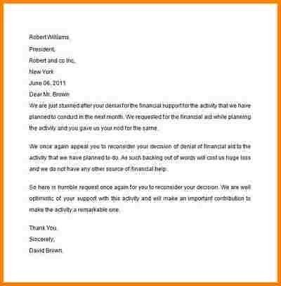 8+ appeal letter for financial aid | quote templates