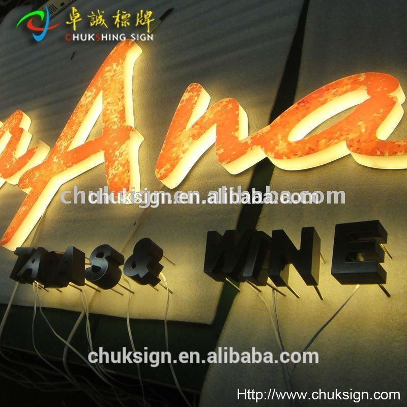 New! Outdoor Light Up Letters Backlit Acrylic Half Side Lit Led ...