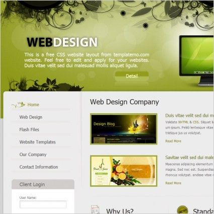 web design Free website templates in css, html, js format for free ...