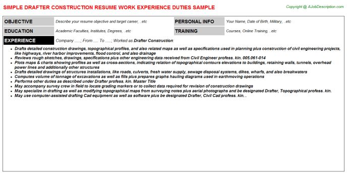 builder resume sample resume sm5sbelu. construction work resume ...