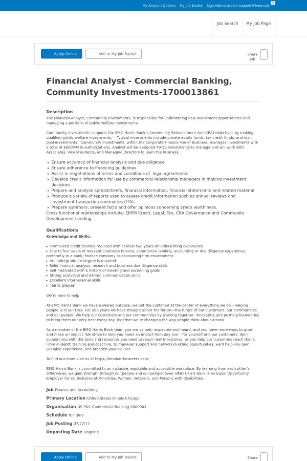 Financial Analyst - Commercial Banking, Community Investments job ...