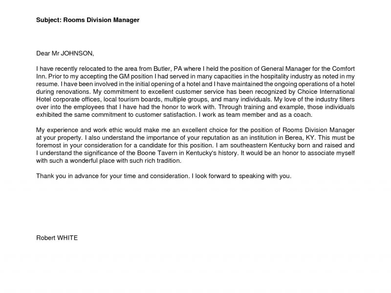 Hospitality Cover Letter - CV Resume Ideas