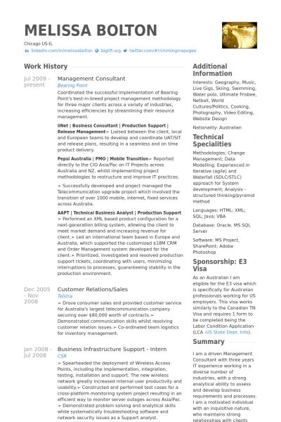Management Consultant Resume samples - VisualCV resume samples ...