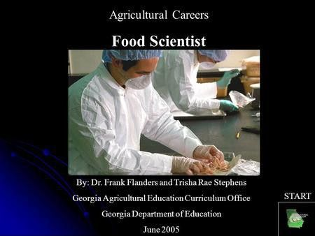 Agricultural Careers Environmental Scientist By: Dr. Frank ...