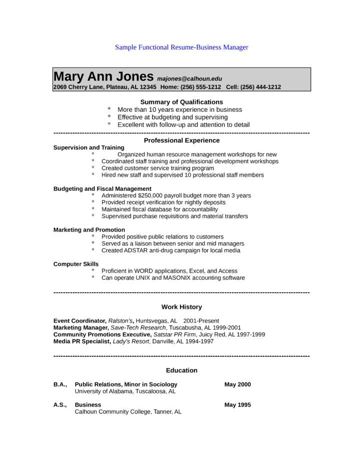 Public Relations Resume Template