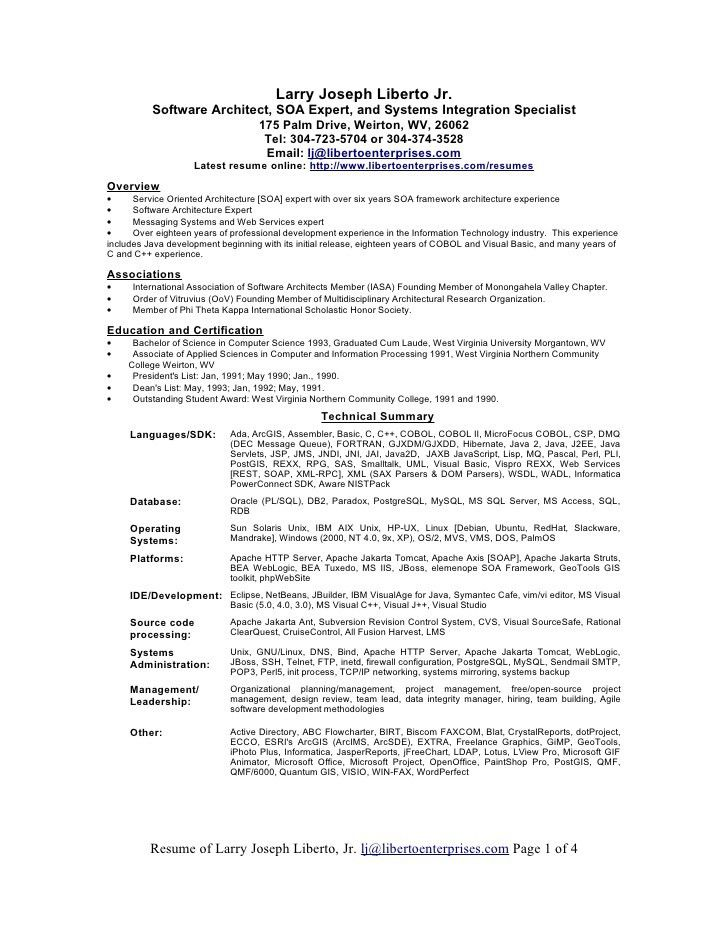 software architect resume software architect resume samples